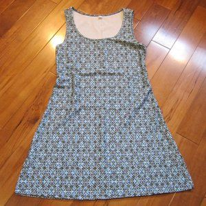nuu muu dress size small blue print